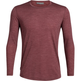 Icebreaker Sphere LS Crew Top Men, cabernet heather